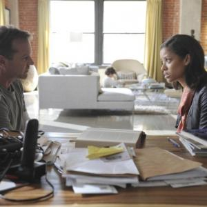 Still of Kiefer Sutherland and Gugu MbathaRaw in Touch 2012