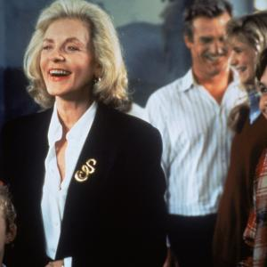 Still of Lauren Bacall, Thora Birch, Ethan Embry and Jamey Sheridan in All I Want for Christmas (1991)