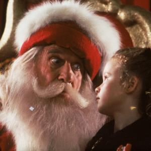 Still of Thora Birch and Leslie Nielsen in All I Want for Christmas (1991)