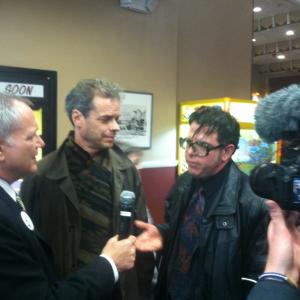 Actor Osborn Focht and director Joe Paul are interviewed at the 2012 Ridgewood Guild Film festival before the screening of Boor of No Importance