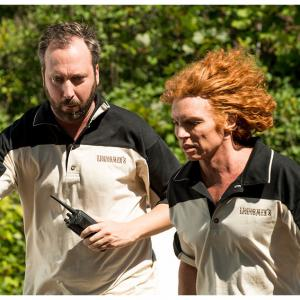 Still of Scott Carrot Top Thompson and Tom Green in Swearnet The Movie 2014