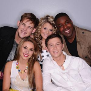 Still of Haley Reinhart Lauren Alaina James Durbin Scotty McCreery and Jacob Lusk in American Idol The Search for a Superstar 2002