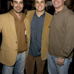 Jesse Bradford Tom Ortenberg and Jason Ritter at event of Happy Endings 2005