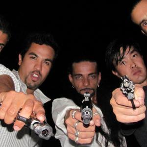 Japanese Bodyguards The Killing of a Japanese Bookie 2014 L to Right Nicholas Anthony Zarillo Oscar Orias Antonio Yakimovich Jay Dathaeus Lee and Izzy Martinez