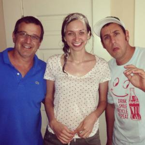 with Allen Covert and Adam Sandler on the set of BLENDED