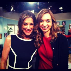 shooting Hot in Cleveland with Wendie Malick