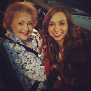 with Betty White at Hot in Cleveland