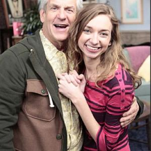 with Lenny Clarke on the set of