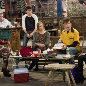 Still of George Wendt, Ashley Tisdale, Ryan Pinkston, Lauren Lapkus, Matt Cook, Mike Castle and Diona Reasonover in Clipped (2015)