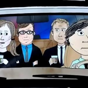 Life & Times of TIm (L to R: Bob Saget, Lauren Lapkus, Andy Daly, Steve Dildarian)