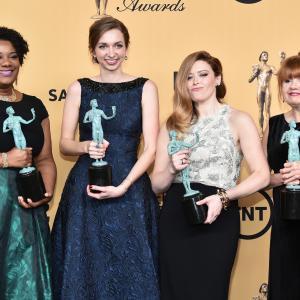 Natasha Lyonne, Annie Golden, Lauren Lapkus and Adrienne C. Moore at event of The 21st Annual Screen Actors Guild Awards (2015)