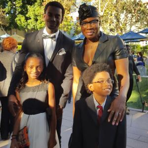 Mo McRae Aisha Hinds Miami McRae and Andre Robinson Kids in The Spotlight Nov 7 2015