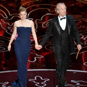 Bill Murray and Amy Adams at event of The Oscars 2014