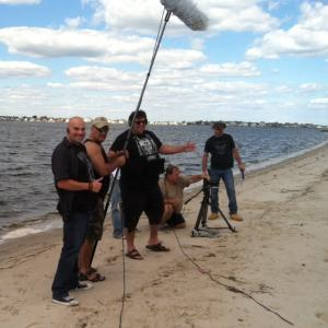 Jason Koerner and Ed McKeever on location at Cattus Island filming Bikini Girls vs The Surf Wolf Sept 2012