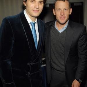 Lance Armstrong and John Mayer
