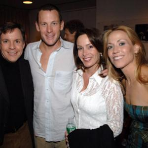Sheryl Crow, Lance Armstrong and Bob Costas