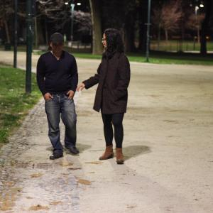 Directing Frederick Martin in When in Milan working title at Parc Sempione Milan Italy