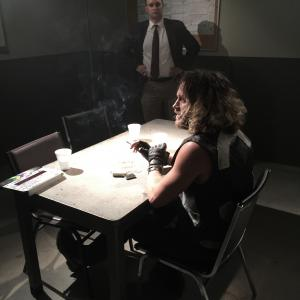 Tyler Atkins on set of Outlaw Chronicles.