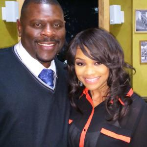 David Terrell and Rhonda Morman in the stage play The Things That Make Men Cry