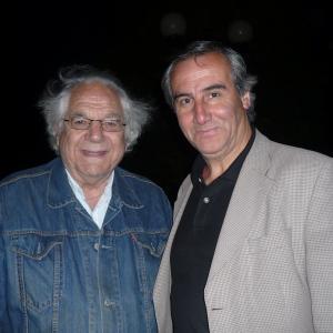 Luis Vitalino Grandn with italianchilean filmmaker Claudio Di Girolamo at event of Resistencia Film Fest 2012