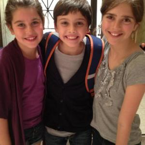 After a few days on set these kids became great friends.