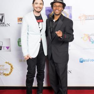 Ryan Kiser and Jarrod Knowles at WideScreen Festival Award Show 3Mar15 at AMC 24 Aventura