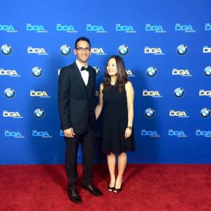 Bennett Hardeman and Asami Hatsugai attend the DGA Awards on February 7 2015