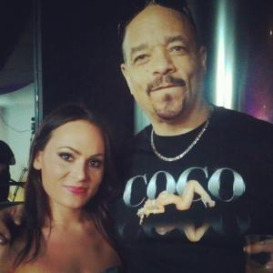 Ice T and I back stage
