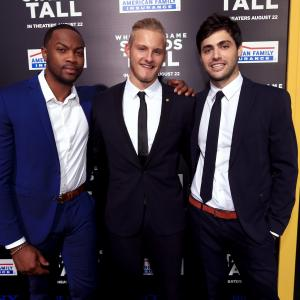 Alexander Ludwig, Ser'Darius Blain and Matthew Daddario at event of When the Game Stands Tall (2014)