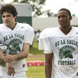 Still of Jessie Usher and Matthew Daddario in When the Game Stands Tall (2014)