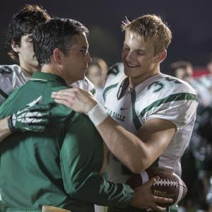 Still of Jim Caviezel, Alexander Ludwig and Matthew Daddario in When the Game Stands Tall (2014)