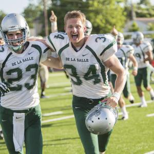 Still of Alexander Ludwig and Matthew Daddario in When the Game Stands Tall (2014)