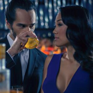 Mack Kuhr and Kyla Gray in the commercial for NEKTAR Liqueur