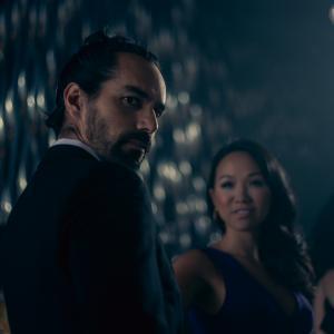 still of Mack Kuhr and Kyla Gray in the commercial for NEKTAR Liqueur