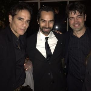 Yul Vazquez, Mack Kuhr and Ron Livingston at the after party for
