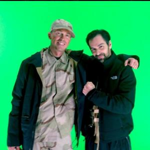 Serge Levin and Mack Kuhr on set of ABYSM