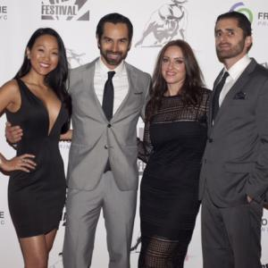 Kyla Gray, Mack Kuhr, Stephanie Domini and James Howell at the Chelsea Film Festival opening night red carpet event in NYC.