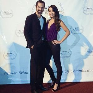 Mack Kuhr and Kyla Gray at the NoHu film festival