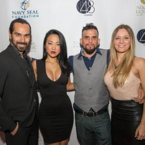 Mack Kuhr, Kyla Gray, Dominick Sivilli and Robin Rose-Singer at the fundraiser event for NEKTAR Liqueur in NYC