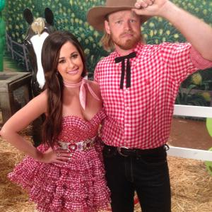 On the set of the Biscuits music video with Kacey Musgraves