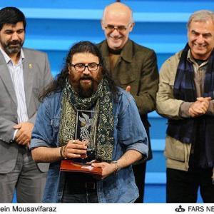 Javad Jalali received the Crystal Simorgh from 30th Fajr International Film Festival
