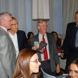 With Kevin Dobson Paul Carafotes and Carlos Rojas at The Angeleno Film Festival Award Ceremony Sept 20 2012