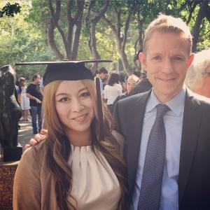 Lionsgate TV Group Chairman Kevin Beggs and Alice Aoki at UCLA graduation serve as commencement speaker at the UCLA School of Theater Film and Televisions ceremony on June 12 at UCLAs Royce Hall