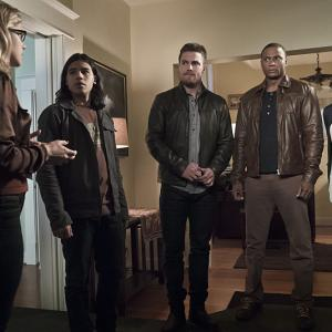 David Ramsey, Willa Holland, Stephen Amell, Carlos Valdes, Emily Bett Rickards