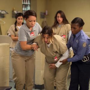 Still of Selenis Leyva, Elizabeth Rodriguez, Lolita Foster, Diane Guerrero and Dascha Polanco in Orange Is the New Black (2013)