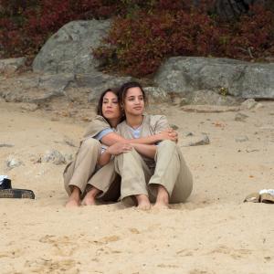 Still of Elizabeth Rodriguez and Dascha Polanco in Orange Is the New Black (2013)