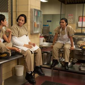 Still of Laura Gómez, Jessica Pimentel, Diane Guerrero and Dascha Polanco in Orange Is the New Black (2013)