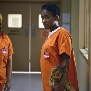 Still of Vicky Jeudy and Dascha Polanco in Orange Is the New Black (2013)