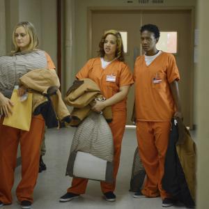 Still of Yael Stone, Taylor Schilling, Vicky Jeudy and Dascha Polanco in Orange Is the New Black (2013)