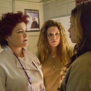 Still of Kate Mulgrew, Natasha Lyonne and Dascha Polanco in Orange Is the New Black (2013)
